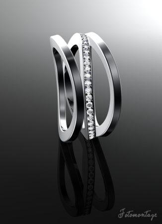 3D Rendering - Steinbach Goldschmiede 3D Render Bild eines Rings