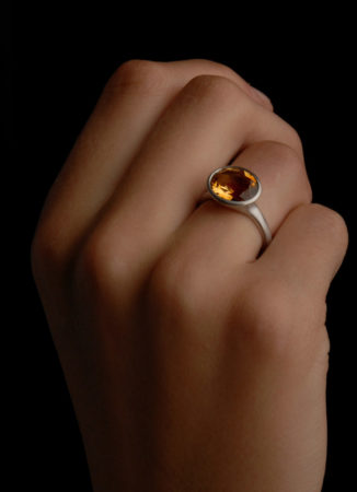 Citrin Ring Flamme