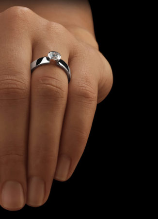 Solitaire Ring Dame