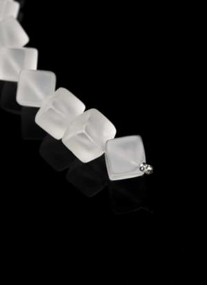 Wechselcollier Steinkette Bergkristallcube