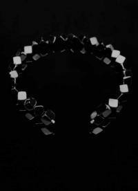 Wechselcollier Steinkette Onyxcube