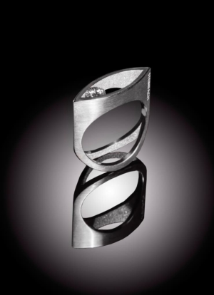 Ring Auge - Ring moderner Solitär Diamant